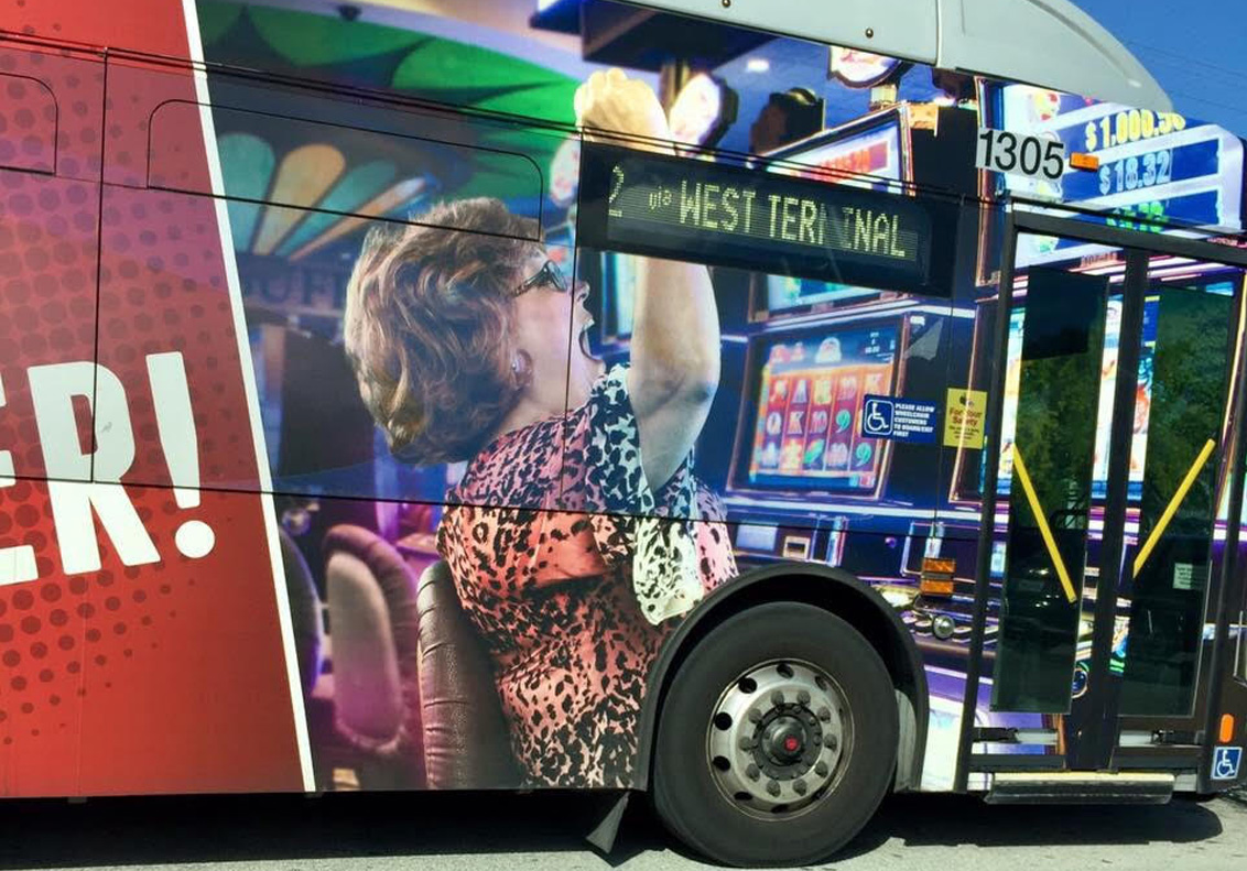 Tess Bus Advertisement